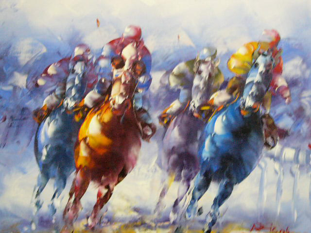 kunstfabrik abstrakt horse race 1
