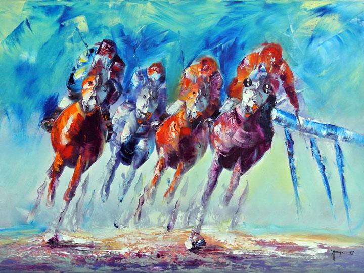 kunstfabrik abstrakt horse race 2