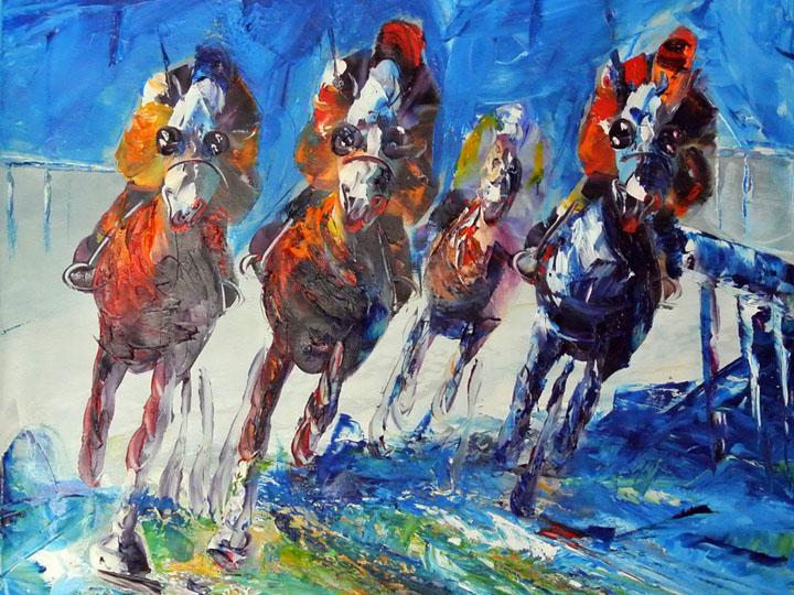 kunstfabrik abstrakt horse race 3